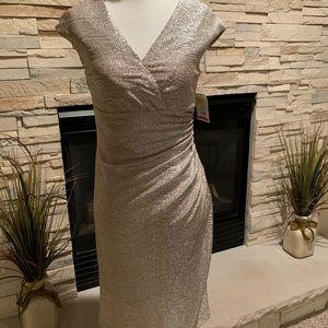Gold shimmer cocktail dress